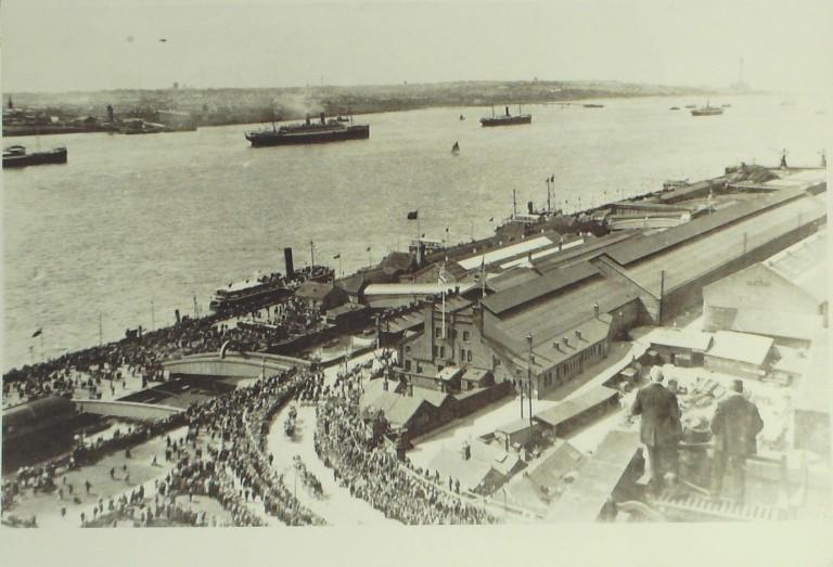Photograph of Princes Landing Stage Showing Royal Parade card