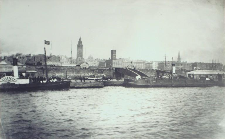 Photograph of Liverpool Waterfront From Mersey C 1873 card
