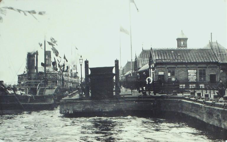 Photograph of Paddle Ferry at Wallasey card