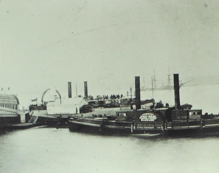 Photograph of Woodside Landing Stage card