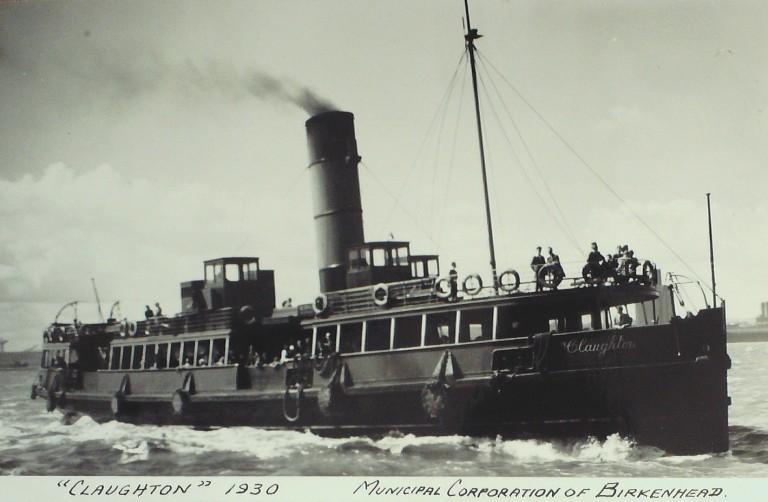 Photograph of Claughton, Birkenhead Corporation card