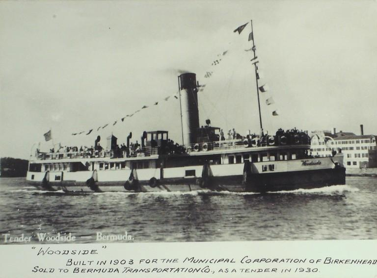 Photograph of Woodside, Birkenhead Corporation card