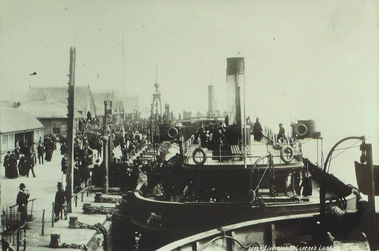 Photograph of Liverpool Landing Stage card