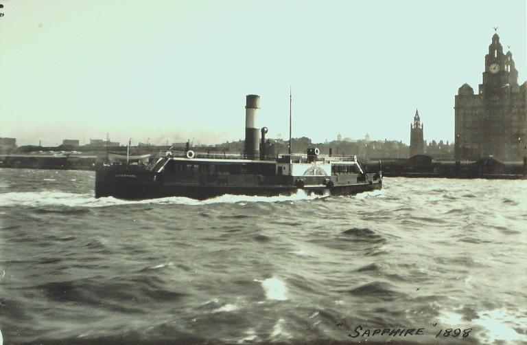 Photograph of Sapphire, Eastham Ferry Pleasure Garden and Hotel Company. card