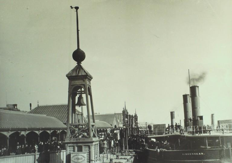 Photograph of Lifebuoy at Liverpool Landing Stage card