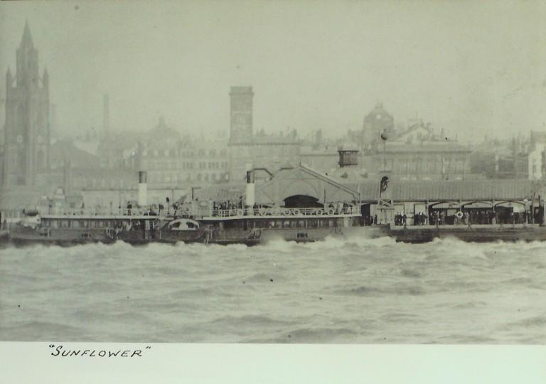 Photograph of Sunflower, Borough of Wallasey card
