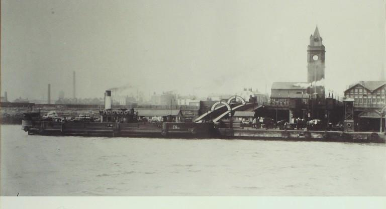 Photograph of Liverpool Landing Stage from River card