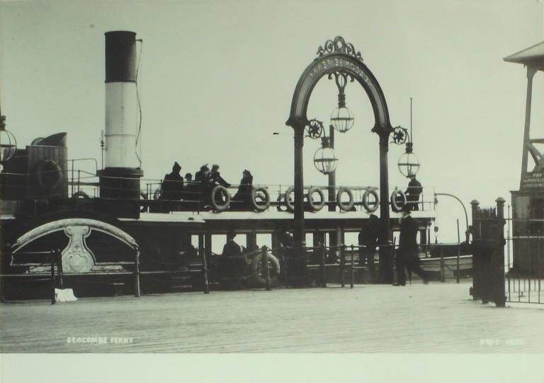 Photograph of Seacombe Landing Stage card