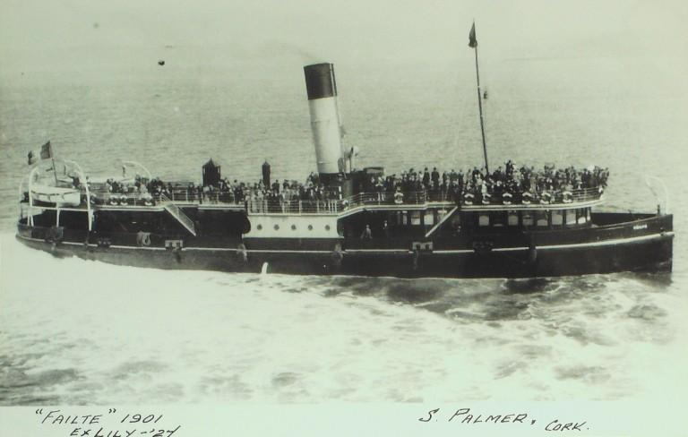 Photograph of Failte (ex Lily), S Palmer card