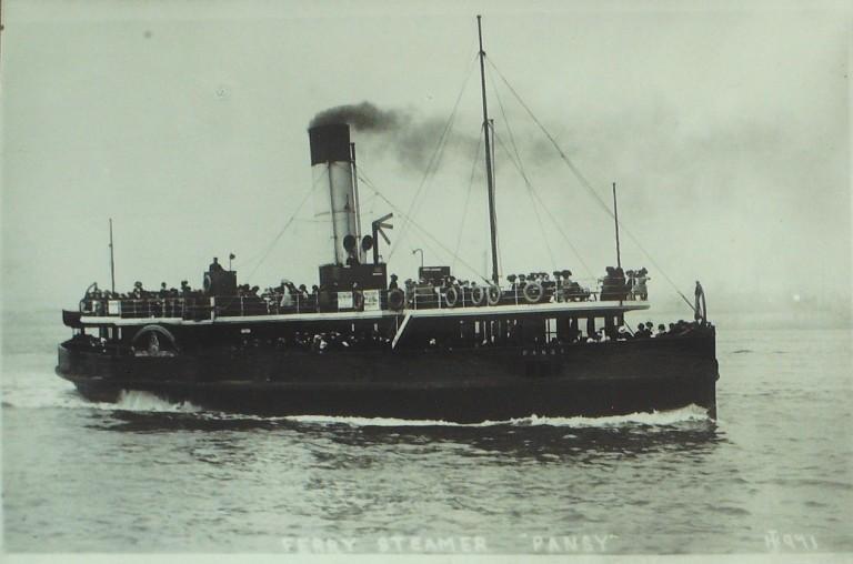 Photograph of Pansy, Borough of Wallasey card