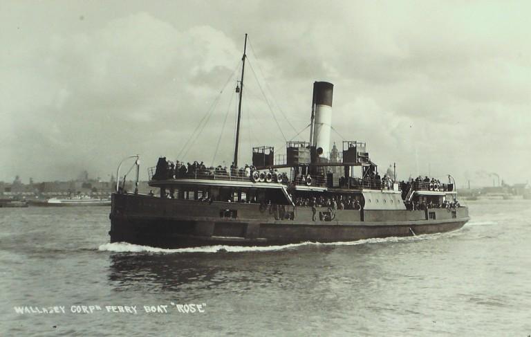 Photograph of Rose, Borough of Wallasey card