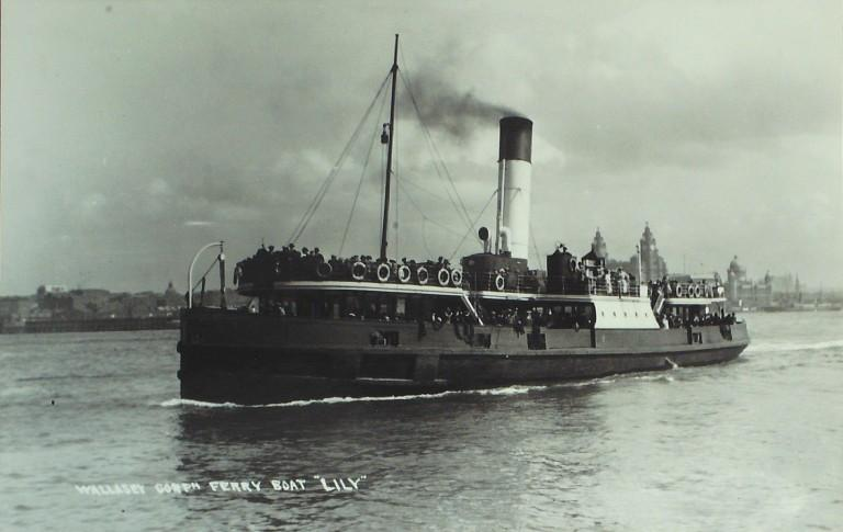 Photograph of Lily, Borough of Wallasey card