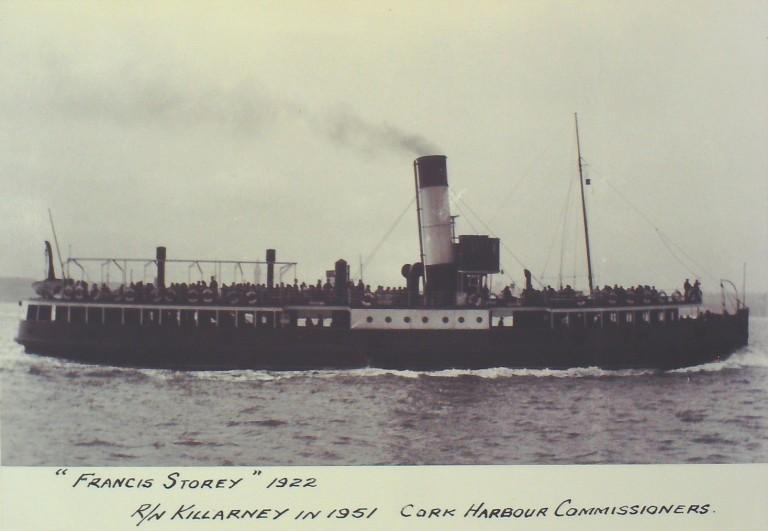 Photograph of Francis Storey (r/n Killarney), Borough of Wallasey card