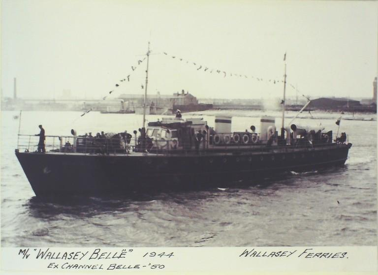 Photograph of Wallasey Belle (ex Channel Belle), Borough of Wallasey card