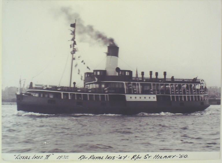 Photograph of Royal Iris II, Borough of Wallasey card