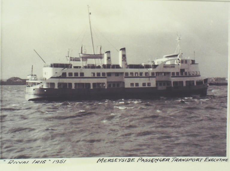 Photograph of Royal Iris, Mersey Passenger Transport Executive card