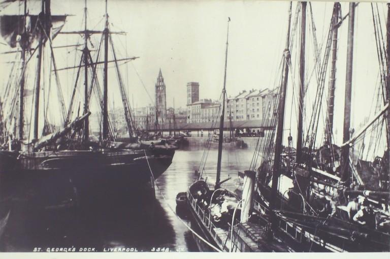 Photograph of Georges Dock card