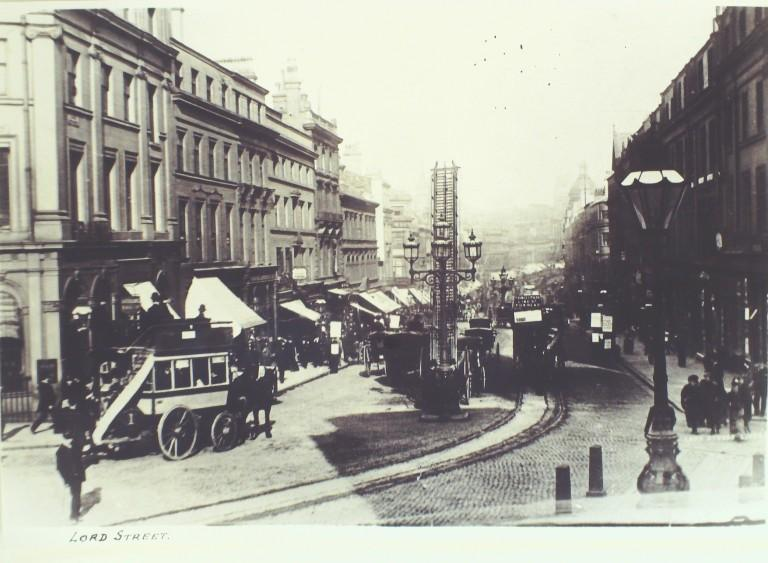 Photograph of Lord Street, Liverpool card