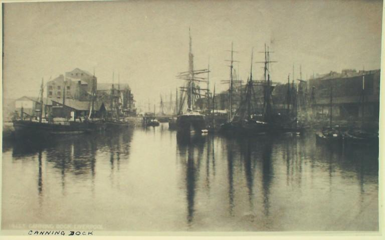 Photograph of Canning Dock card