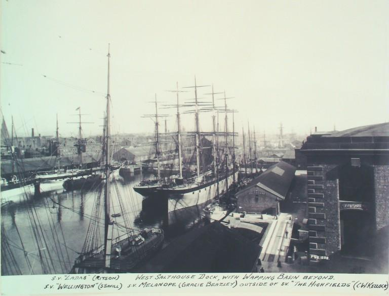 Photograph of West Salthouse Dock and Wapping Basin card