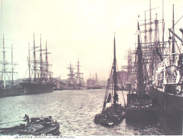 Photograph of Queens Dock card
