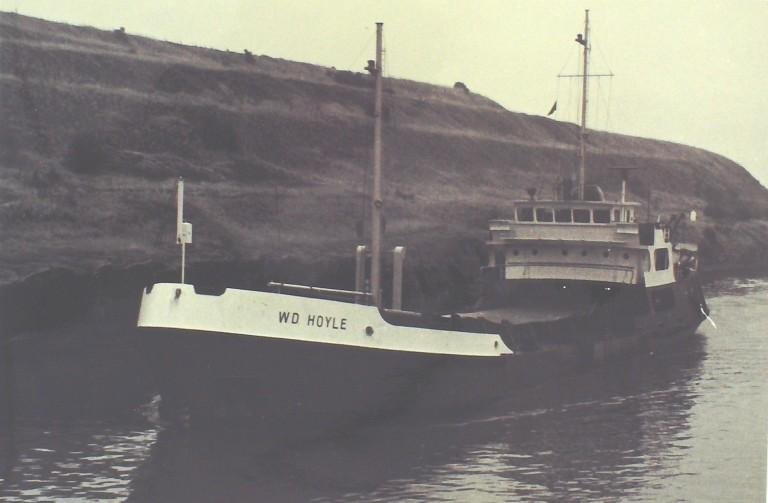 Photograph of W D Hoyle, Manchester Ship Canal Company card