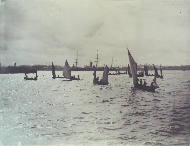 Photograph of Sailing Boats on the Mersey card