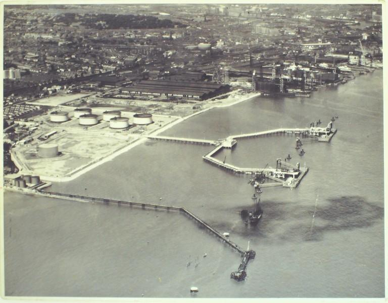 Photograph of Tranmere Oil Terminal card