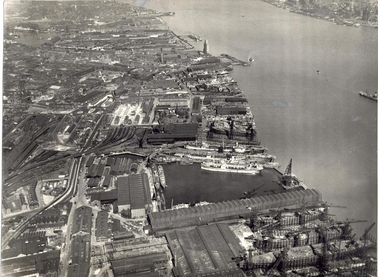 Photograph of Aerial View From Cammell Lairds to Clovers card