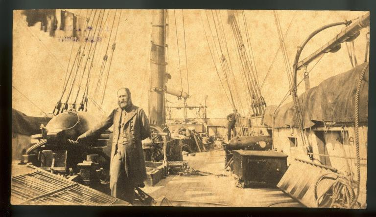 Photograph taken on board the Confederate commerce raider Alabama. card