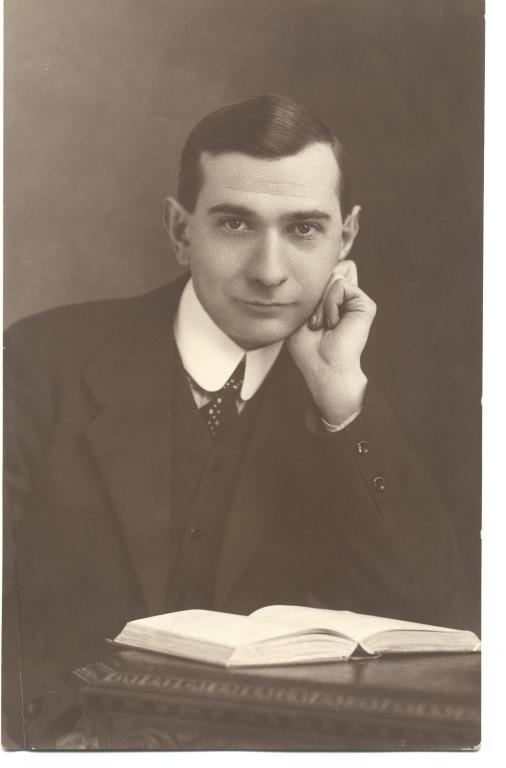 Photograph of Joseph J Fynney, Titanic passenger. card