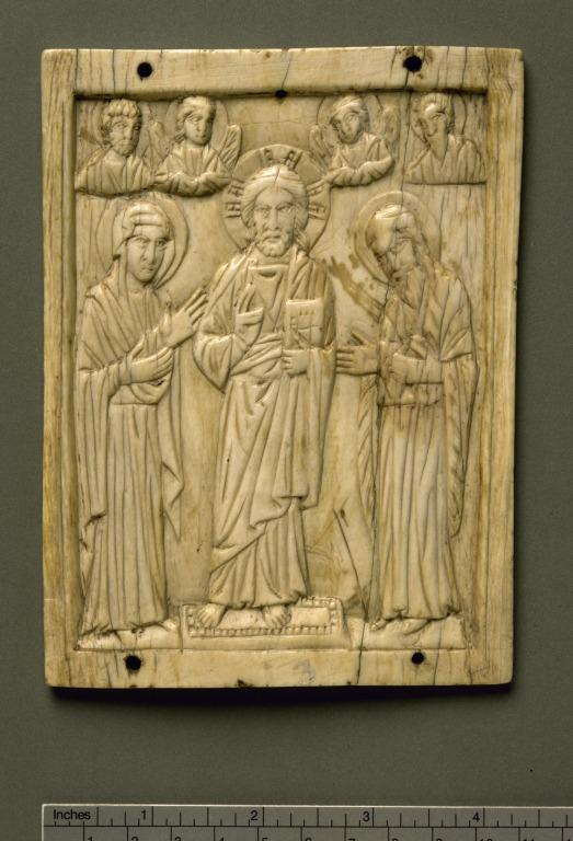 Panel of a Deesis Triptych card