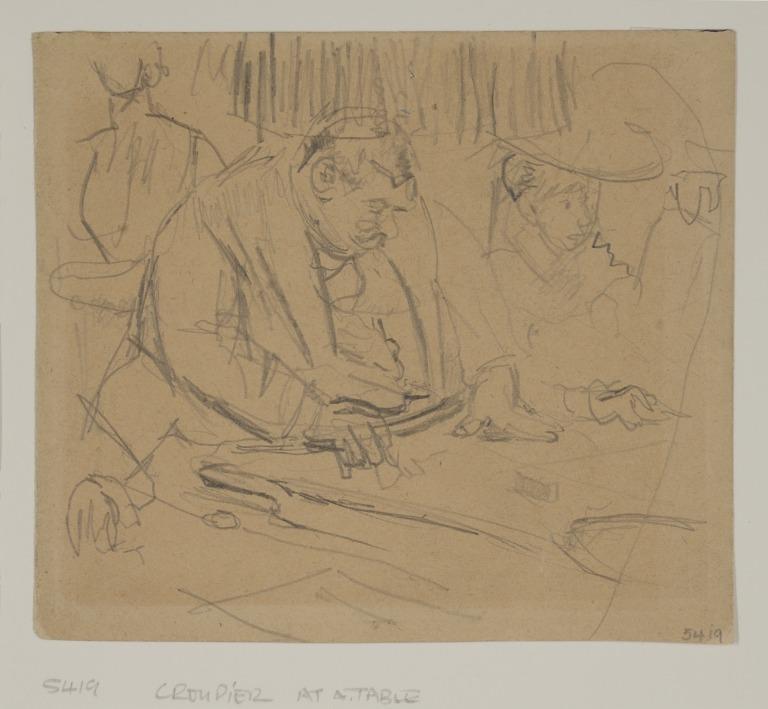 Croupier at a Table card