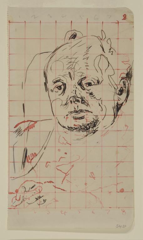 Study of Winston Churchill card
