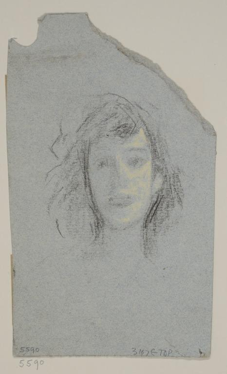 Head, Probably of Katie Lawrence card