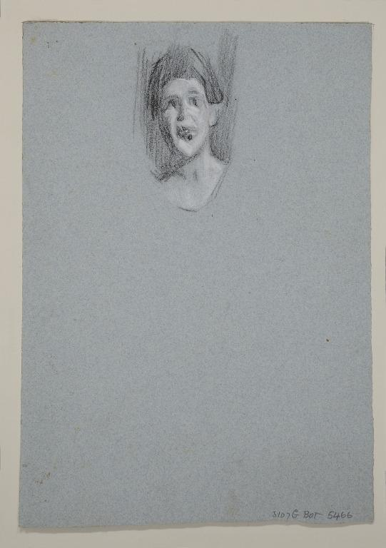 Head of an Artiste, Possibly Queenie Lawrence card
