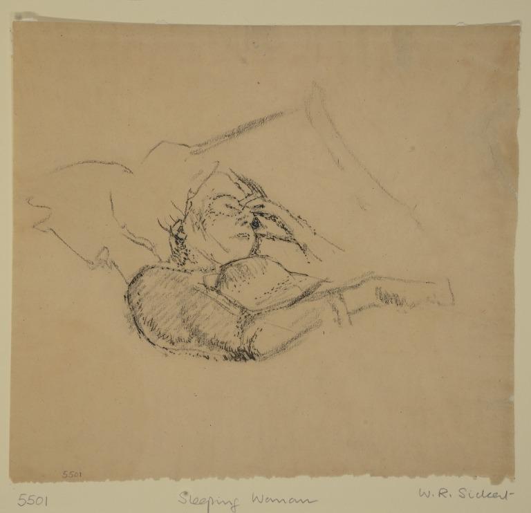 Study of a Woman Sleeping card