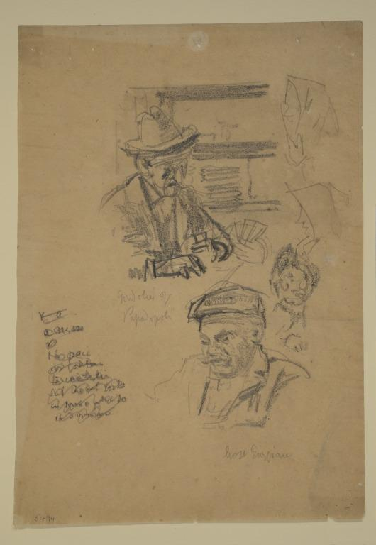Figure Studies with a Man Playing Cards card