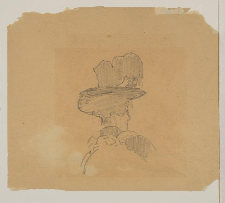 Head of a Woman Wearing a Large Hat card