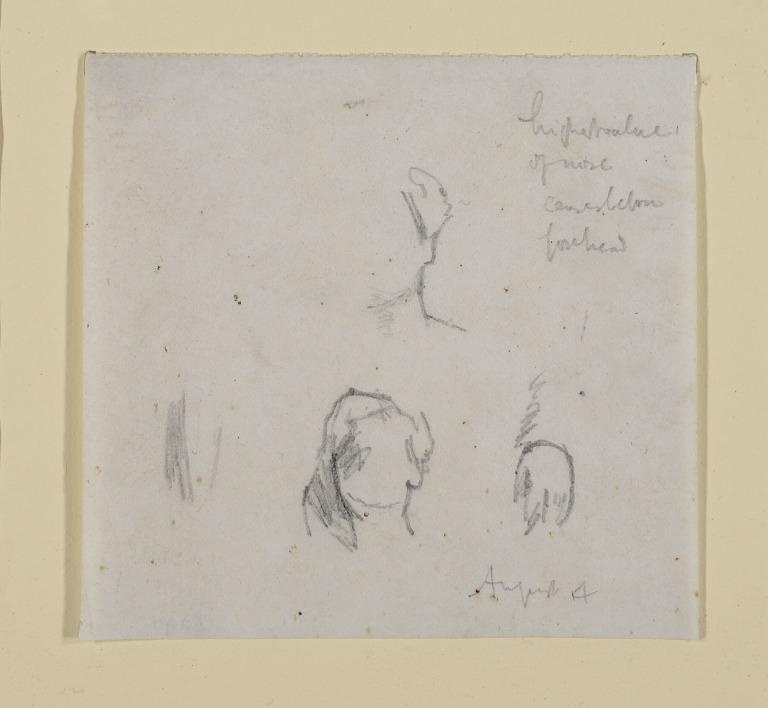 Study of Head and Hands of Emily Lyndale card