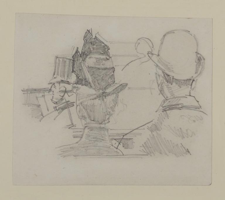 Audience with Woman in Hat Seen from the Back card
