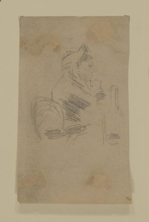 Woman at a Table card