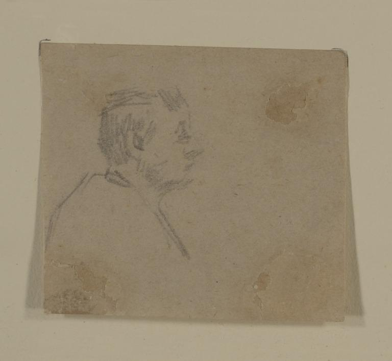 Head and Shoulders of a Man in Profile card