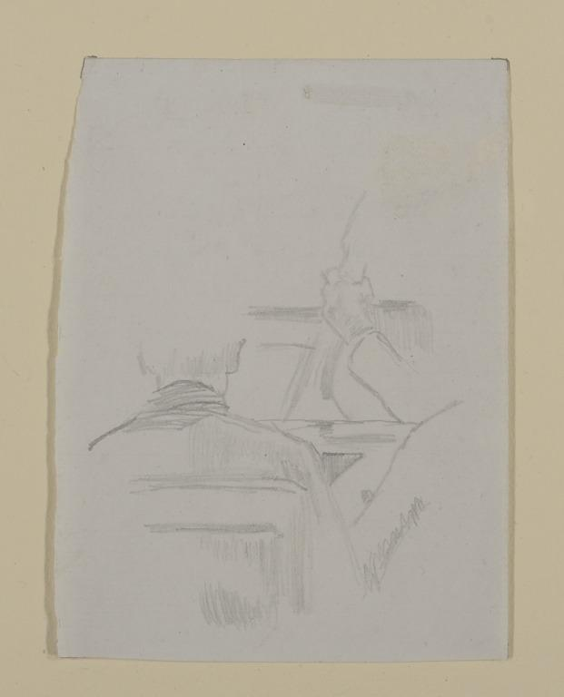 Study for Cellist and Man in Audience card