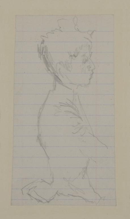 Half Length Study of a Girl in a High Necked Dress card
