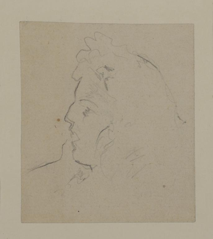 Head of a Woman in Profile, Facing Left card