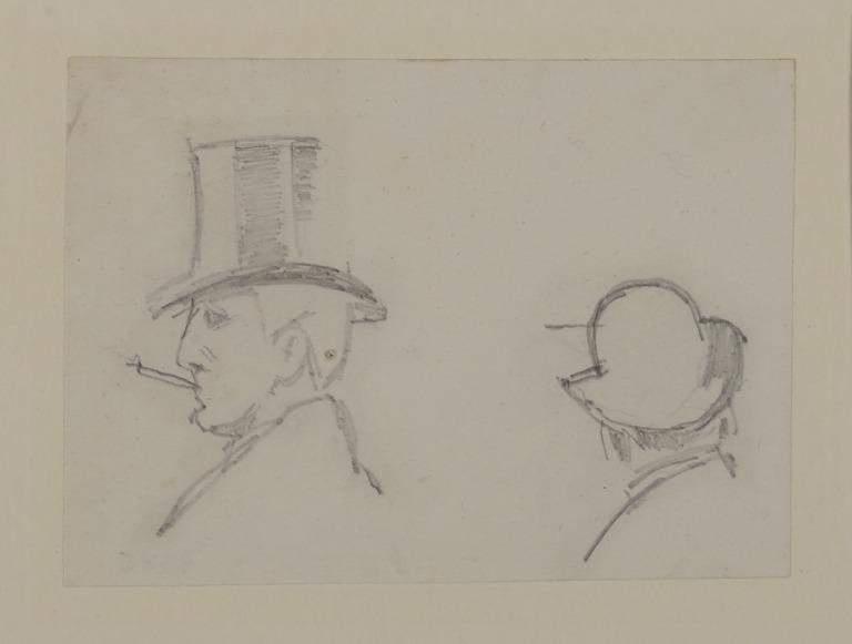 Man in a Bowler Hat; Man in a Top Hat card