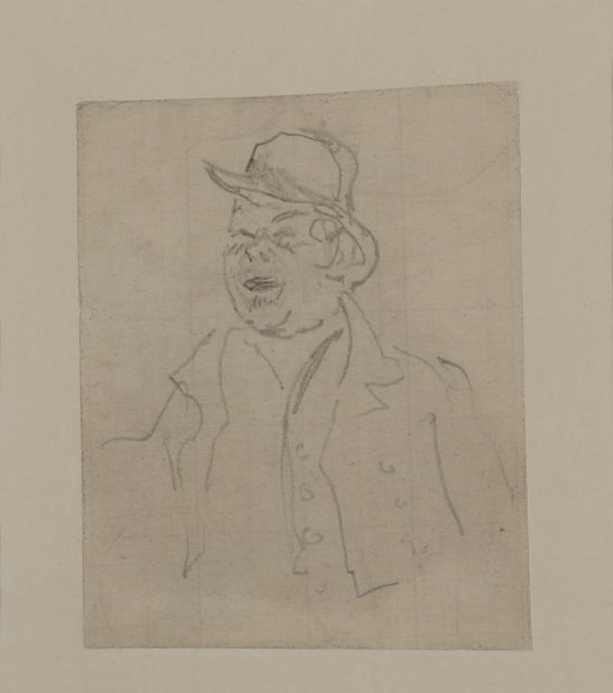 Head and Shoulders of a Man in a Bowler Hat and Short Jacket card