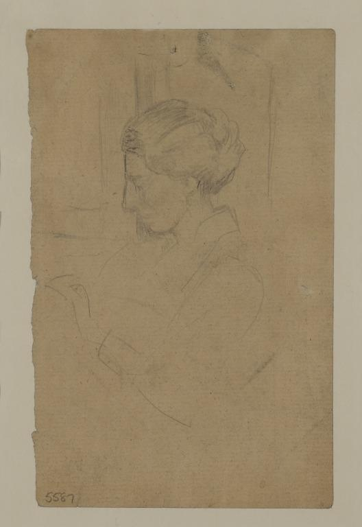 A Woman in Profile card