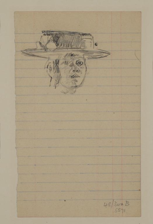 Head of a Woman in a Straw Boater card